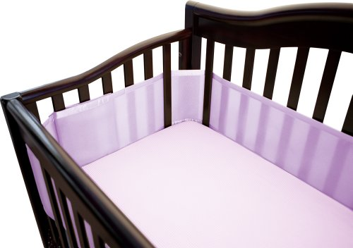Breathablebaby Breathable Mesh Crib Liner, Orchid Bloom