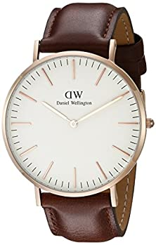buy Daniel Wellington Men'S 0106Dw St. Mawes Stainless Steel Watch With Brown Band