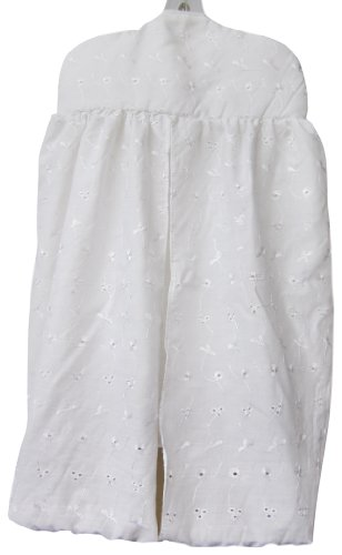 Baby Doll Bedding Carnation Eyelet Diaper Stacker, White