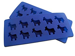 "NicecubeZ ""Democratic Party"" Donkey Silicone Ice Cube Trays and Baking Molds Made from Flexible and Eco-Friendly, Food-Grade Silicone, 2 T at Sears.com"