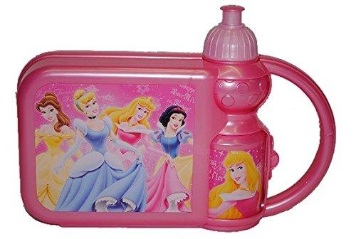 2-in-1-Brotdose-mit-Trinkflasche-Disney-Prinzessin-Set-Brotbchse-Flasche