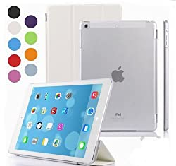 Elite Ultra Thin Smart Foldable Flip Case cover Apple iPad Air iPad 5 Tablet with stylus (Sleep/Wakeup) (White)