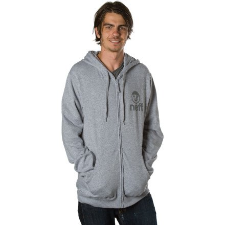 Neff Icon Full-Zip Hooded Sweatshirt - Men's Grey, S