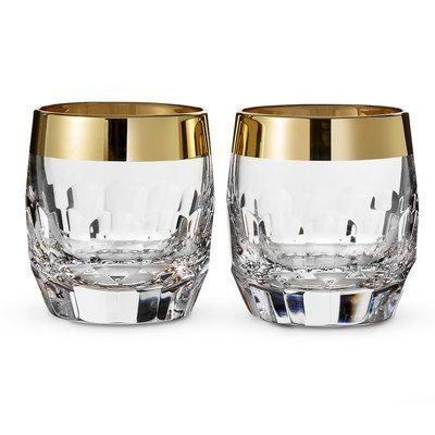 Mixology Mad Men Edition Draper Dof Glass (Set Of 2) Finish: Gold By Waterford