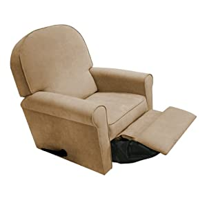 The Rockabye Glider Jayden Recliner, Micro Tan