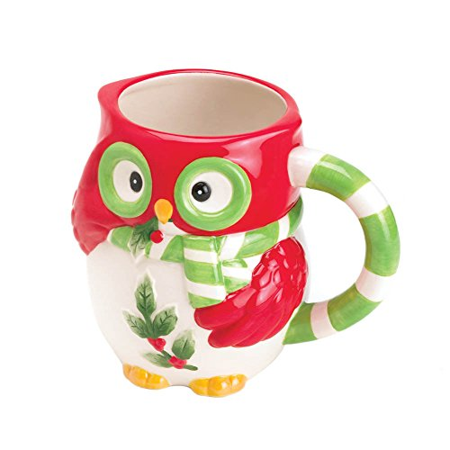 New Ceramic Holiday Christmas Little Hoot Owl Coffee Mug Creamer Pitcher