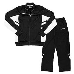 ASICS Men\'s Cabrillo Pants and Jacket Set (Medium, Black)