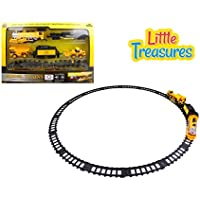 Construction Train Engineering Toy Play Set Includes A Locomotive Steam Engine A Coal Cart And A Flat Bed Train...