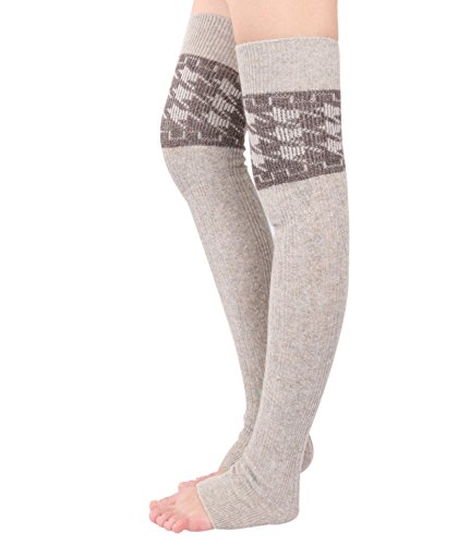 Women Thigh High Over Knee Knitted Cashmere Leg Warmer ...