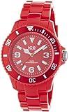 Ice-Watch Ice-Solid SD.RD.U.P.12 - Reloj analógico de cuarzo unisex, correa de plástico color rojo