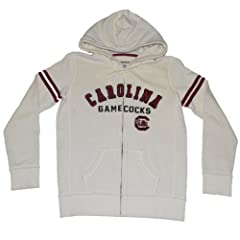 South Carolina Gamecocks Colosseum Women Off-White Full-Zip Sweatshirt (M) by Colosseum