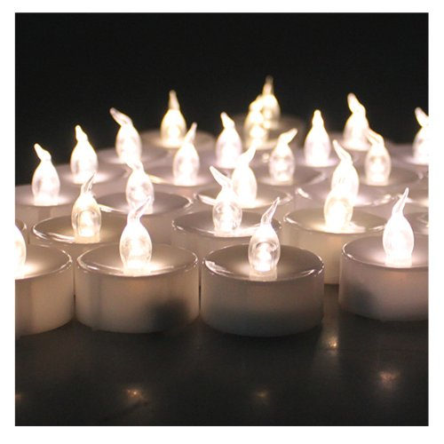 Agptek® 24X Warm White Led Flickering Flashing Light Tea Light Flameless Candles For Wedding Christmas Outdoor Party Decoration