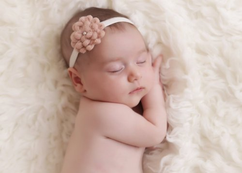 Wool Flower With Velvet Headband For Baby Girls, Photography, Toddlers, Accessories, Perfect For Winter (12 And Up, Tan) front-829428