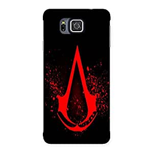 Ajay Enterprises Red Tag Black Back Case Cover for Galaxy Alpha
