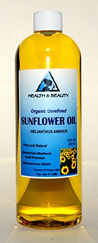 Sunflower Oil Unrefined Organic Carrier Cold Pressed Pure 64 Oz front-566142