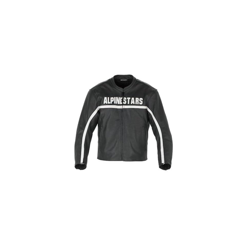 Alpinestars Barcelona Black Leather Motorcycle Jacket