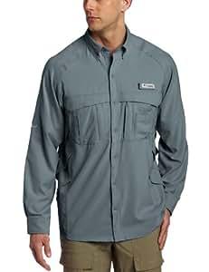 Columbia Airgill Lite Long Sleeve Shirt, Pink, L - Regular