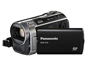 Panasonic SDR-S70 Camcorder - Black (SD Card compatible, x78 Enhanced Optical Zoom, Wide Angle Lens)