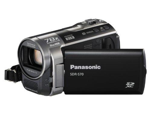 Panasonic SDR-S70 Camcorder - Black (SD Card compatible, x78 Enhanced Optical Zoom, Wide Angle Lens)