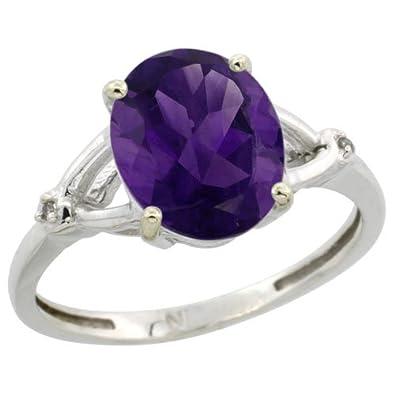 Argent Sterling 925 Multi Rond Violet Améthyste Cz H Cluster cœur Cocktail Ring