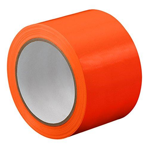 Apple Round Global Trading LLC-TapeCase TC414 X 72YD in PVC/gomma, colore: arancione, pellicola, spessa 0,01 (0,0023 cm, lunghezza 72 yd., larghezza 66,04 (26 cm, 1 rotolo