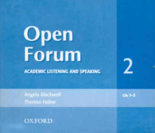 Open Forum 2 Audio CD: Academic Listening and Speaking (Open Forum Series)