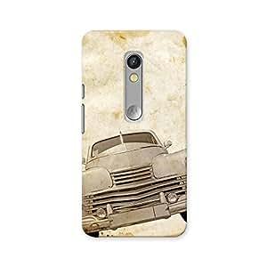 ArtzFolio Vintage Car : Motorola Moto X Play Matte Polycarbonate ORIGINAL BRANDED Mobile Cell Phone Protective BACK CASE COVER Protector : BEST DESIGNER Hard Shockproof Scratch-Proof Accessories