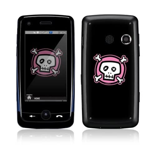Pink Crossbones Decorative Skin Cover Decal Sticker for LG Rumor Touch LN510 Cell Phone