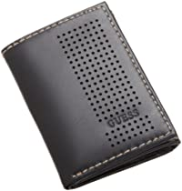 Guess Mens Trifold Wallet, Black, One Size