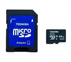 Toshiba 64GB MICRO SD XC MEMORY CARD CLASS 10 UHS-I 64 GB 64Go Go carte mémoire HighSpeed