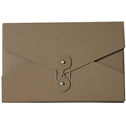 JAM Paper Kraft Portfolio with Button and String Tie Closure - Video Size - 5 1/2