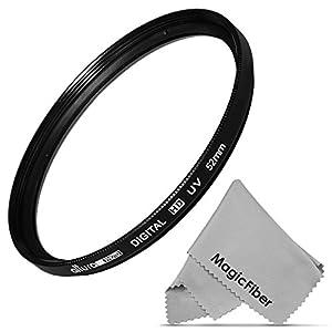 52MM UV Ultraviolet Lens Protection Filter for NIKON DSLR D7100 D5200 D5100 D5000 D3300 D3200 D3100 D3000 D90 D80 + Premium MagicFiber Microfiber Lens Cleaning Cloth
