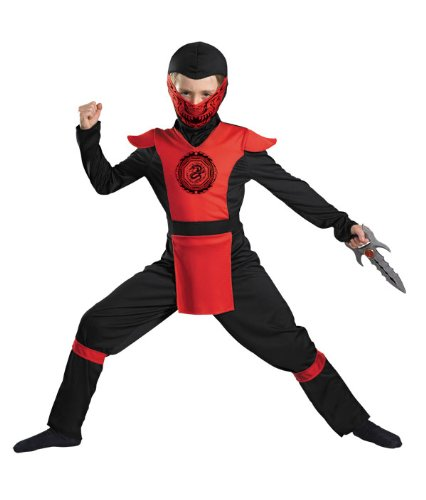 Fyre Dragon Ninja Kids Costume
