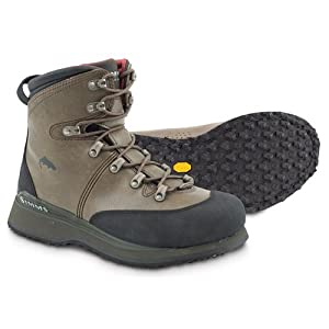 Simms Freestone Vibram Wading Boot (9) Brown Size 11