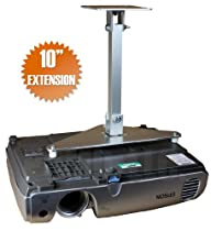 "PCMD All-Metal Projector Ceiling Mount with 10"" Extension for Epson PowerLite Home Cinema 710HD"