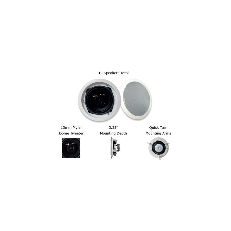 MA Audio MA52iWR 20PKG 140 Watt 2 Way 5.25 In Wall/Ceiling Speakers