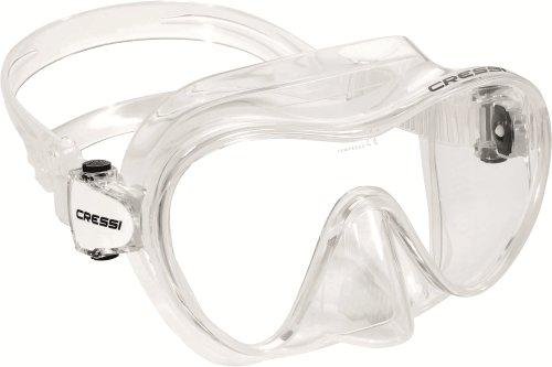 Cressi Jungen Maske F1 Junior Frameless, Clear,