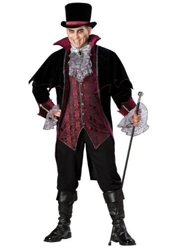Incharacter Mens Scary Vampire Of Versailles Victorian Steampunk Costume
