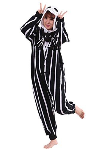 Pink Wind Warm Anime Costume Sleepwear Adult Cosplay Style Pajamas (X-Large, Jack Skellington) (Jack Skellington Cosplay compare prices)