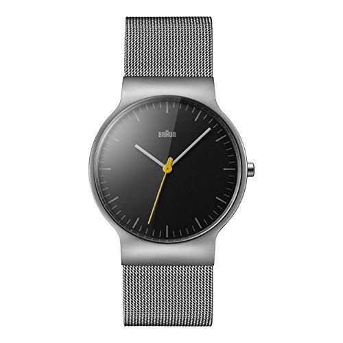 Braun Men's BN0211BKSLMHG Classic Slim Analog Display Japanese Quartz Silver Watch (Braun Quartz Watch compare prices)
