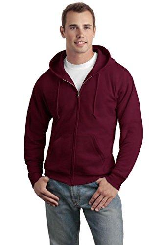 Hanes Men'S Comfortblend Full-Zip Hood 7.8 Oz - Maroon - Size M