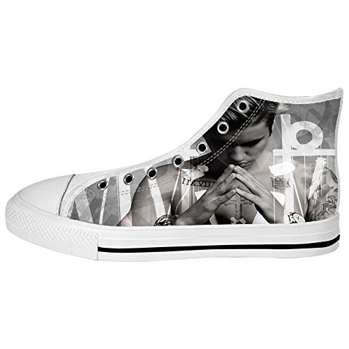 Dalliy Personalized Star Justin Bieber Women High-top Canvas Shoes Flat Shoes (Justin Bieber Shoes For Boys compare prices)