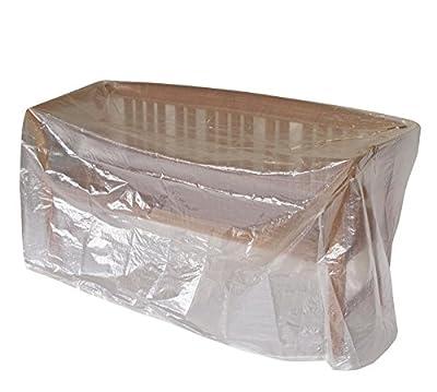 Schutzhülle Abdeckhaube für Bänke 160cm, PE transparent. Auch für Tische verwendbar.