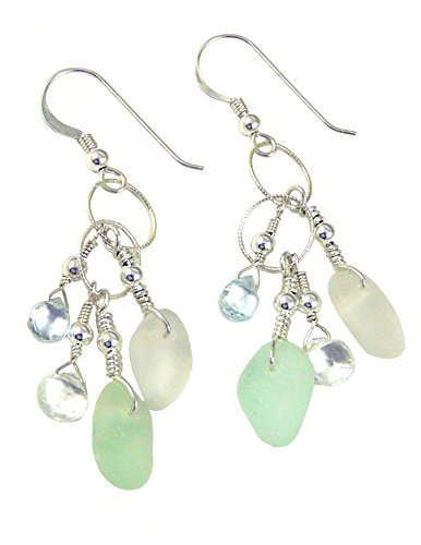 Authentic Sea Glass Dangle Earrings