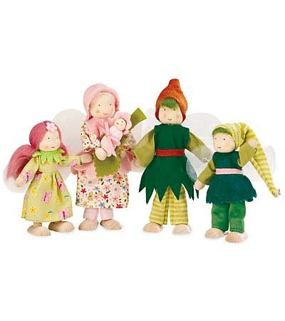 Kathe Kruse Fairy Family Dollhouse Doll With Tulle Wings, In Mama front-808869