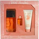 White Shoulders For Women Set, Eau De Cologne Spray 4.5 oz, Body Lotion 3.3 oz & Parfum .25 oz Mini