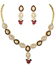 Karatcart 22K Goldplated Traditional Jewellery Set For Women - B01ABW319S