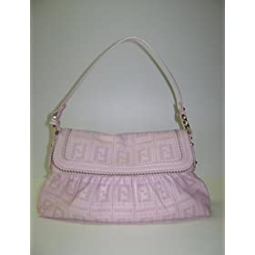 Fendi 8br445 Leather Pink Chef Handbags