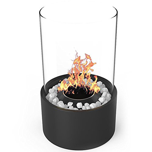 Elite Flame Eden Tabletop Ventless Bio Ethanol Fireplace in Black