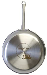 American Kitchen by Regal Ware AK-802 100th Anniversary Limited Edition Try-Ply 10-Inch and 12-Inch Skillet, Stainless Steel, 2-Pack